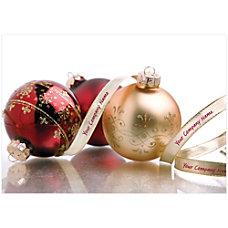 Sample Holiday Card Seasonal Trimmings