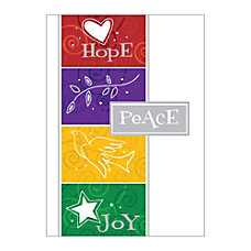 Sample Holiday Card Centered on Peace