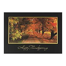 Sample Holiday Card Autumn Trees