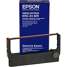 Epson ERC 23BR BlackRed Fabric Ribbon
