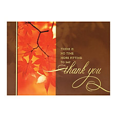 Sample Holiday Card Autumn Thanks