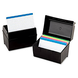 Oxford Plastic Index Card Boxes w