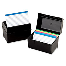 Oxford Plastic Index Card Box With