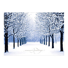 Sample Holiday Card Winters Path