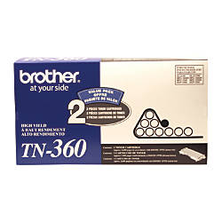 Brother TN 360 Black Toner Cartridges