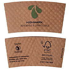 Highmark Renewable Breakroom Hot Cup Sleeves