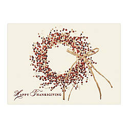 Sample Holiday Card Tri Color Wreath