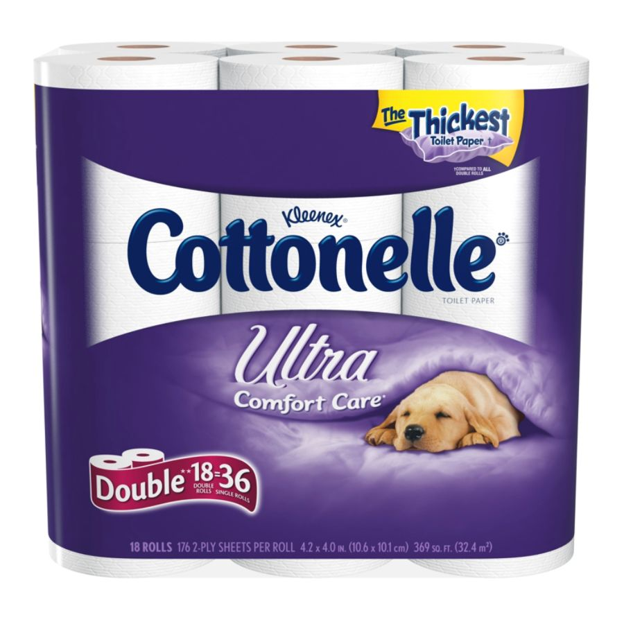 kleenex cottonelle 2 ply bathroom tissue 451 sheets per roll case of 18 rolls by office depot officemax - Bathroom Tissue