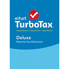 TurboTax Deluxe Fed State Efile 2015