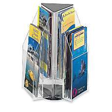 6 Pocket Pamphlet Rotating Tabletop Display