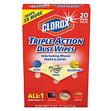 Clorox Triple Action Dust Wipes Unscented