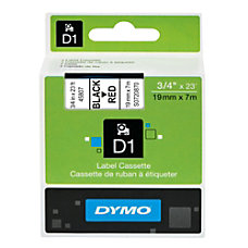 DYMO D1 45807 Black On Red