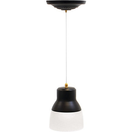 Its Exciting Lighting Glass Pendant Light Bronze By Office Depot OfficeMax
