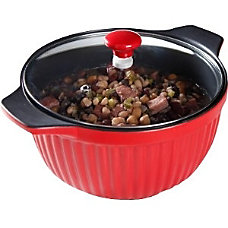 Gibson Denhoff 3qt Ribbed Casserole Red