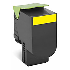 Lexmark 80C1HY0 High Yield Yellow Toner