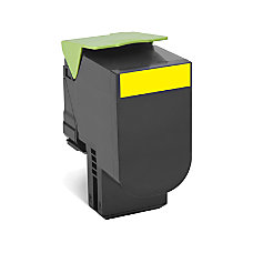 Lexmark 80C1SY0 High Yield Yellow Toner