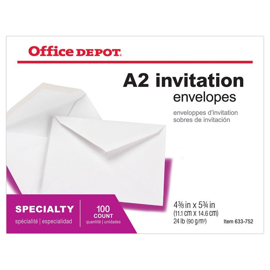 office depot brand invitation envelopes 4 38 x 5 34 white pack of, Wedding invitations