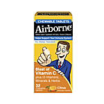 Airborne Chewable Tablets Citrus Pack Of