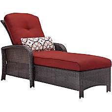 Hanover Strathmere Luxury Chaise in Crimson