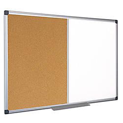 MasterVision CorkDry Erase Combination Board Melamine