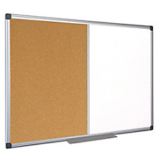 MasterVision CorkDry Erase Combination Board Melamine