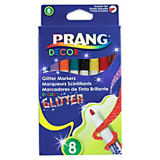 Prang Decor Glitter Markers Conical Tip
