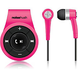 noisehush ns560 clip on bluetooth stereo headset pink by office depot officemax. Black Bedroom Furniture Sets. Home Design Ideas