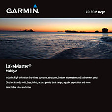 Garmin MapSource LakeMaster Michigan Digital Map