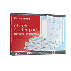 Office Depot Brand Starter Check Refill