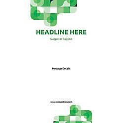 Custom Vertical Banner Green Abstract