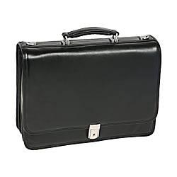 McKlein River North Leather Briefcase Black