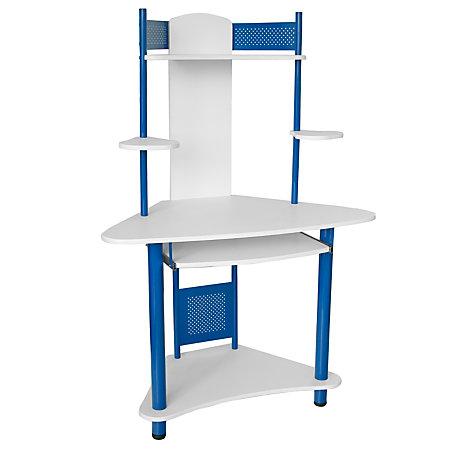 flash furniture corner computer desk with hutch 57 h x 39 w x 24 q
