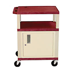 H Wilson Plastic Utility Cart With
