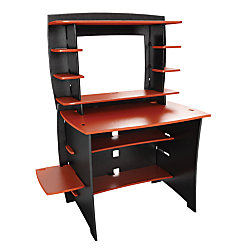Legare Select Wood 36 Student Desk And Hutch Redblack By