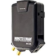 Minuteman SlimLine MMS130RC 3 Outlets Surge