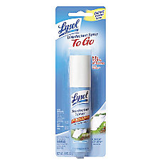 Lysol Disinfectant Spray To Go Crisp