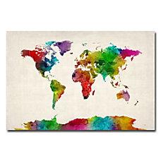 Trademark Global Watercolor World Map II