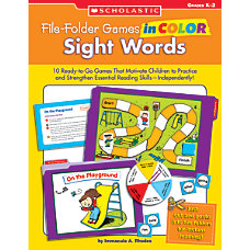 Scholastic File Folder Games Sight Words