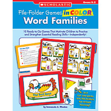 Scholastic File Folder Games Word Families