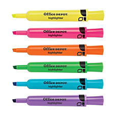 Office Depot Brand Highlighters Chisel Point