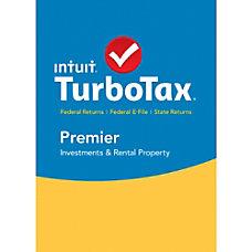 TurboTax Premier Fed Efile State 2015