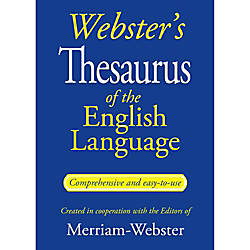 Websters Thesaurus Of The English Language