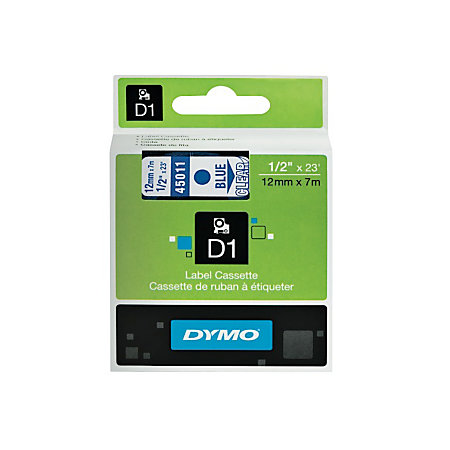 Dymo D1 Electronic Label Maker Tape 0 5 X 23 Blue