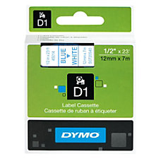 DYMO D1 45014 Blue On White