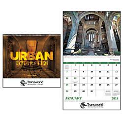 Urban Explorations 13 Month Calendar Spiral