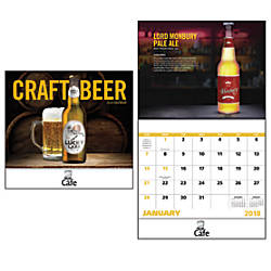 Craft Beer 13 Month Calendar Stapled