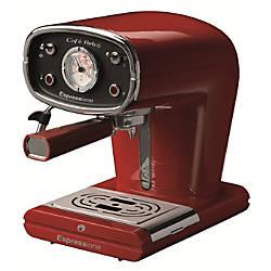 Espressione Cafe Retro Espresso Machine Red