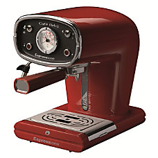 Espressione Cafe Retro Espresso Machine Red