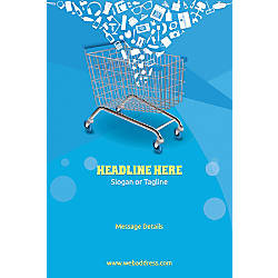 Custom Vertical Poster Shopping Cart