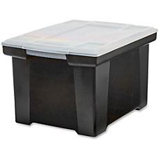 Storex Portable File Tote External Dimensions